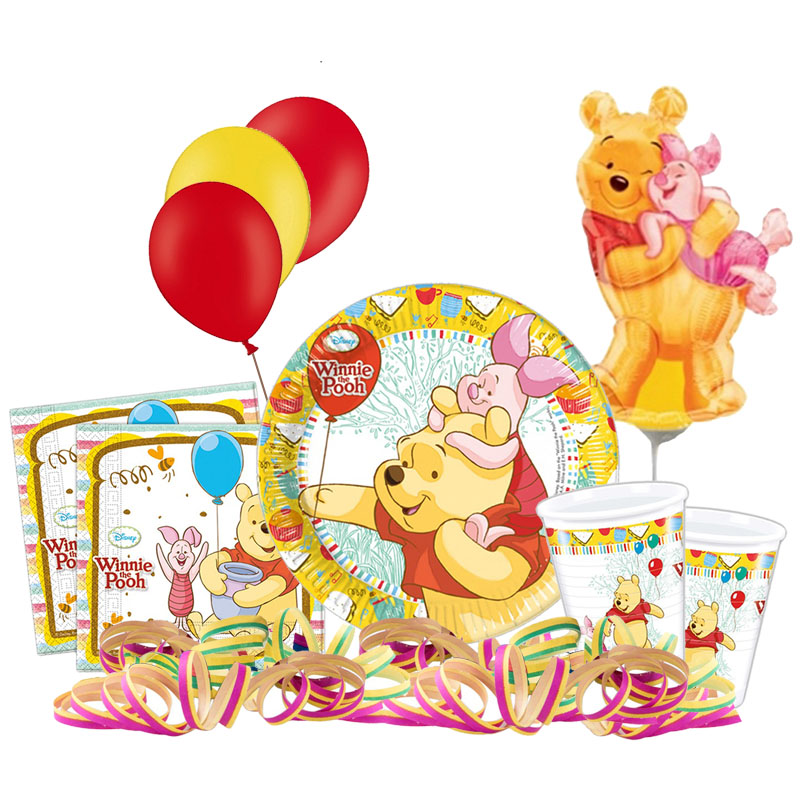 winnie pooh kindergeburtstag 8 personen geburtstag party set deko kinderparty ebay. Black Bedroom Furniture Sets. Home Design Ideas