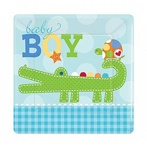 baby boy tisch set teller becher taufe geburtstag babyparty geburt shower deko ebay. Black Bedroom Furniture Sets. Home Design Ideas